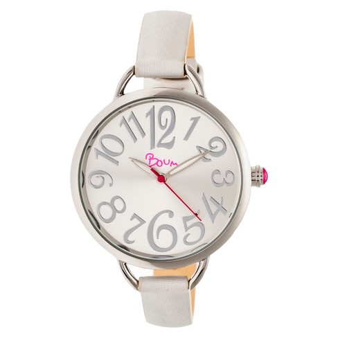Women's Boum Cirque Sunray-Dial Leather-Band Watch - image 1 of 3