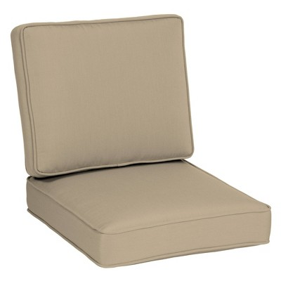 2pc Firm Deep Seat Cushion Set - Arden Selections