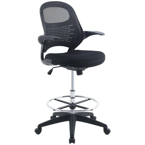Stealth Drafting Chair Black - Modway - image 1 of 4