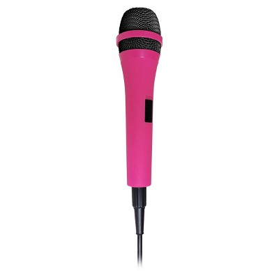 Singing Machine SMM205P Uni-Directional Dynamic Microphone with 10-Foot Cord, Pink