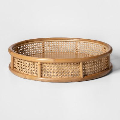 20  x 4  Decorative Rattan Cane Tray Brown - Project 62™
