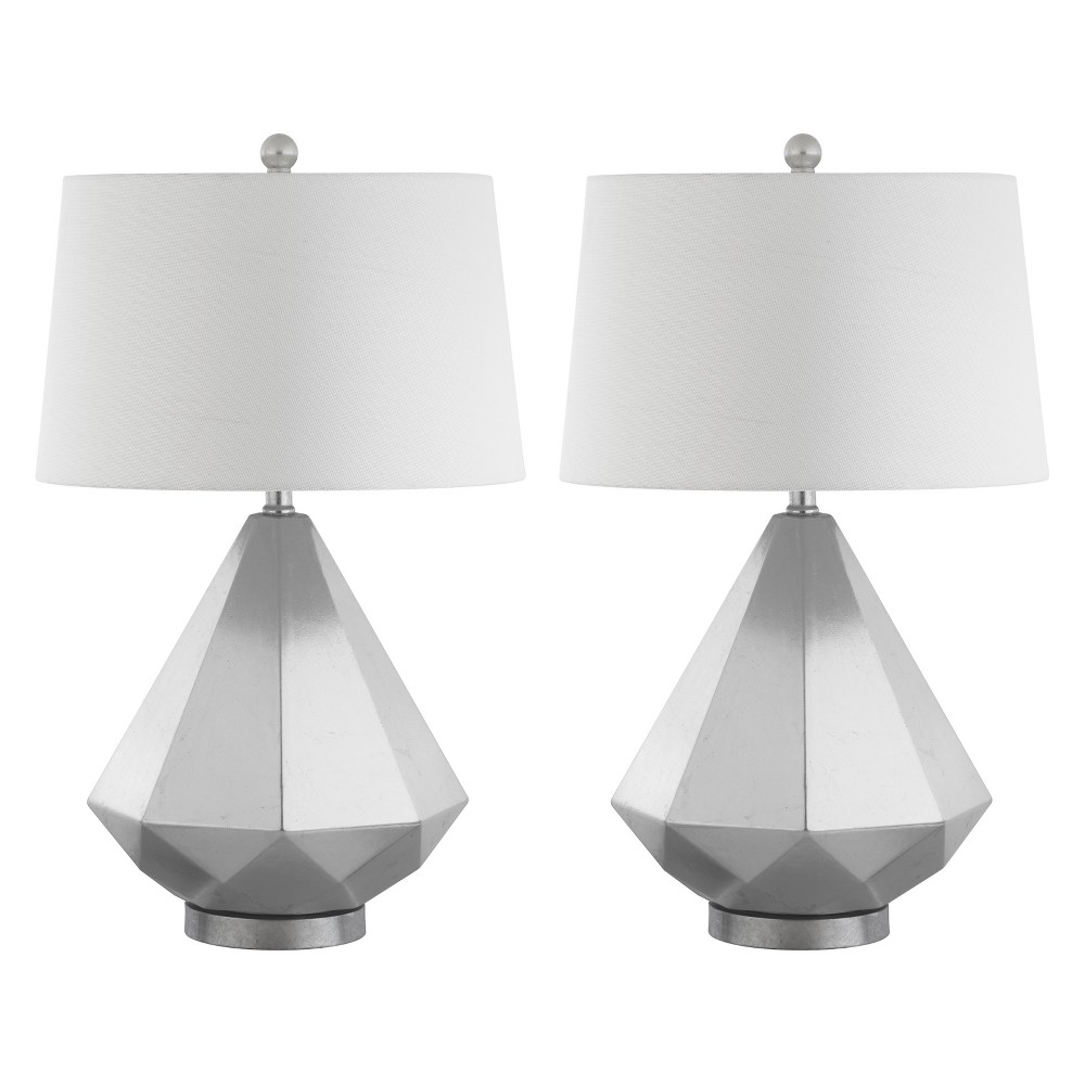 Twain Table Lamp Silver Leaf 16