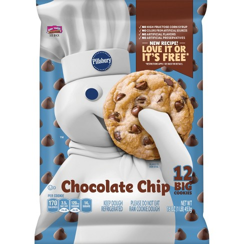 Pillsbury Big Deluxe Chocolate Chip Cookie Dough with Hershey's Mini Kisses - 12ct - image 1 of 1