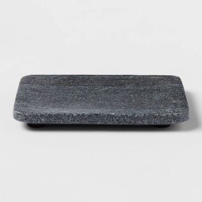 Solid Marble Soap Dish Dark Gray - Project 62™