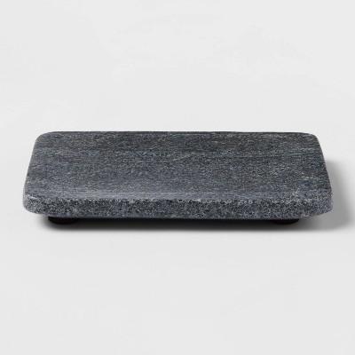 Solid Marble Soap Dish Dark Gray - Threshold™