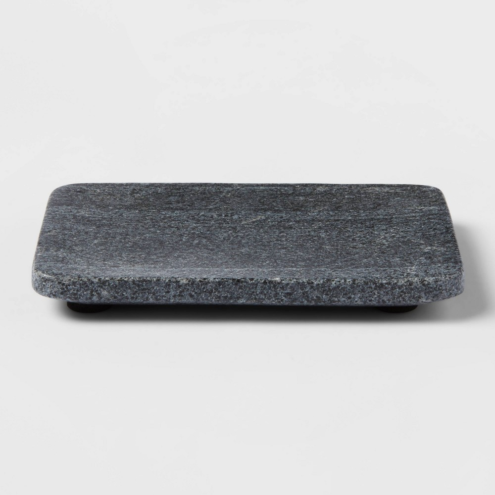 Solid Marble Soap Dish Dark Gray Project 62 8482