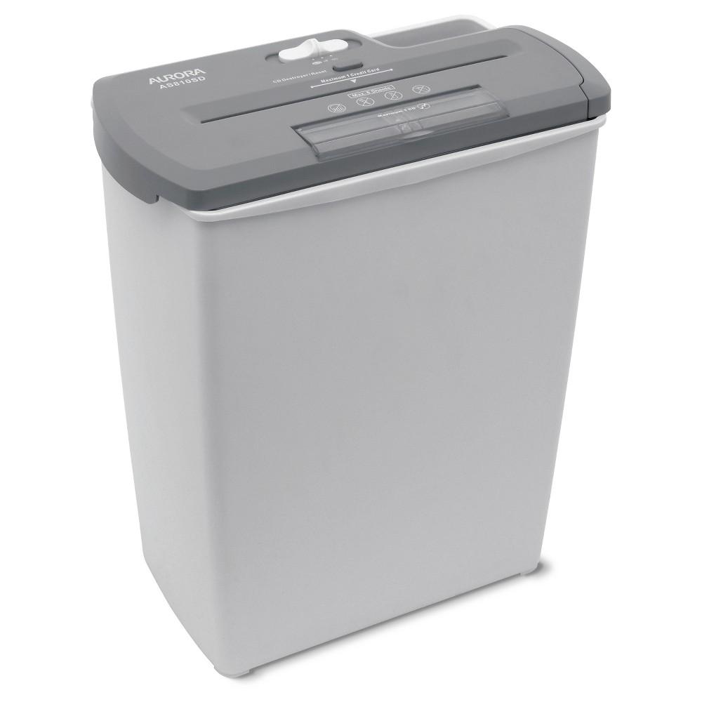 Aurora 8 Sheet Light Duty Paper Shredder with Wastebasket Gray - AS810SD