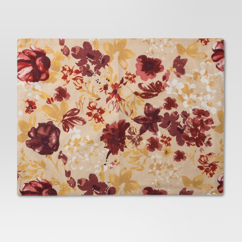 Floral Placemat - Red - Threshold