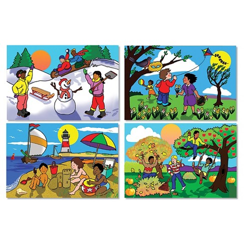 Melissa & Doug® Four Seasons Floor Puzzle - Winter, Spring, Summer, and Fall (48pc) - image 1 of 1