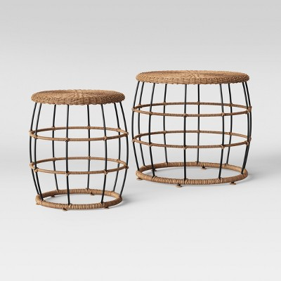 Magnificent Southport Nesting Patio Coffee End Table Black Brown Ibusinesslaw Wood Chair Design Ideas Ibusinesslaworg