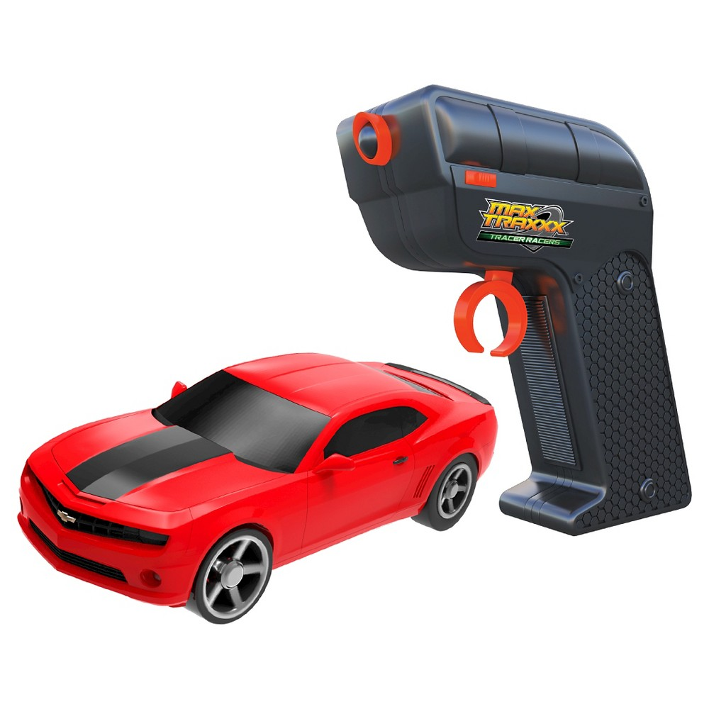 Max Traxxx Tracer Racers RC Car and Controller Red Camaro
