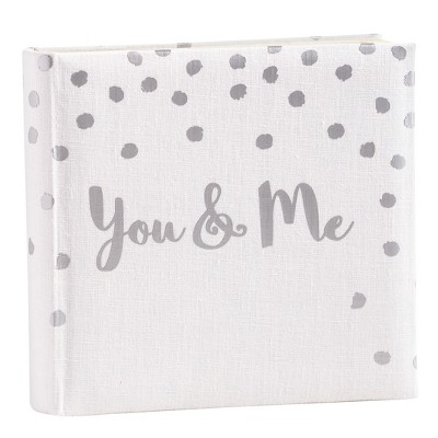 You and Me Polka Dot Photo Album - Holds 2 4 x6  per Page