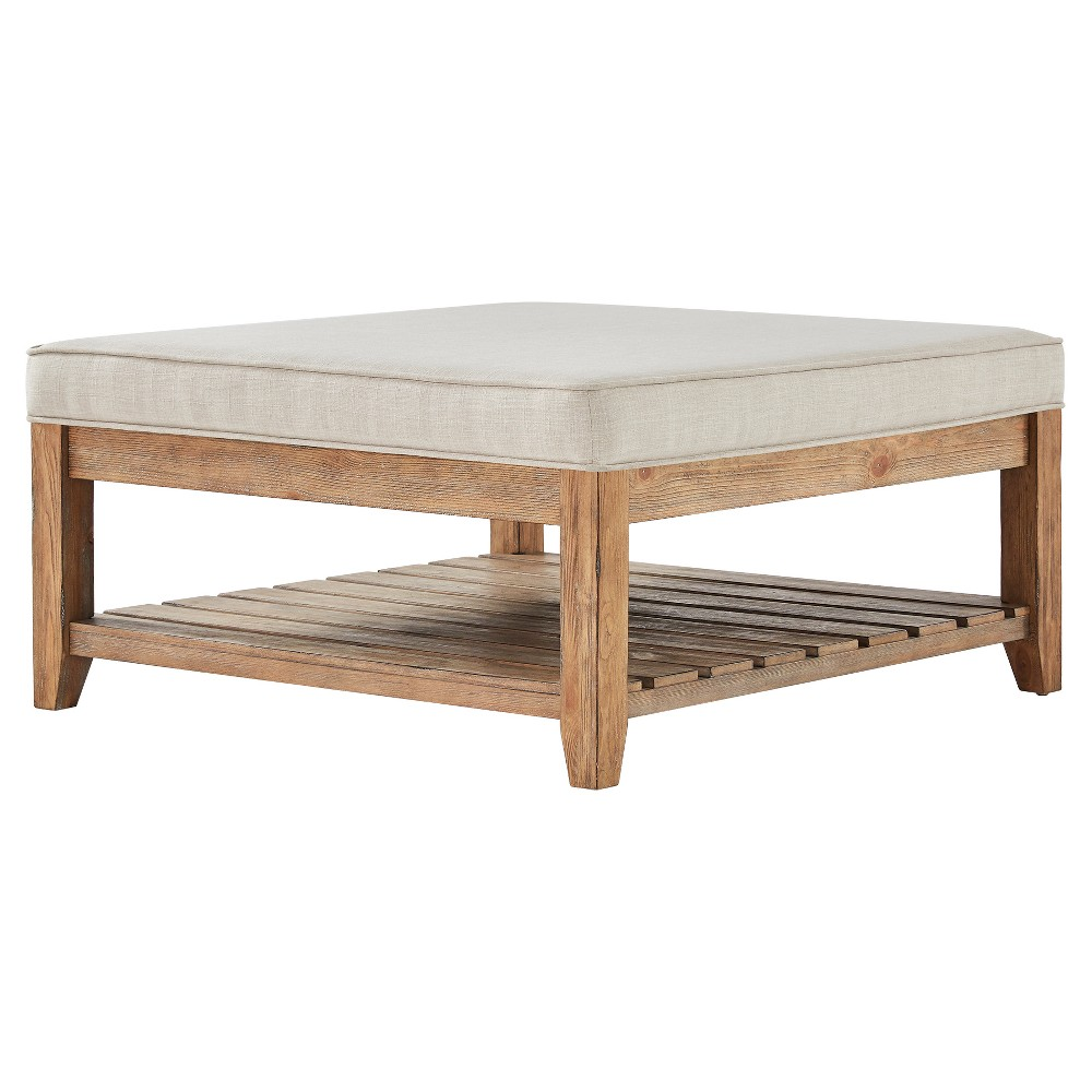 Southgate Natural Tapered Cocktail Ottoman Oatmeal - Inspire Q