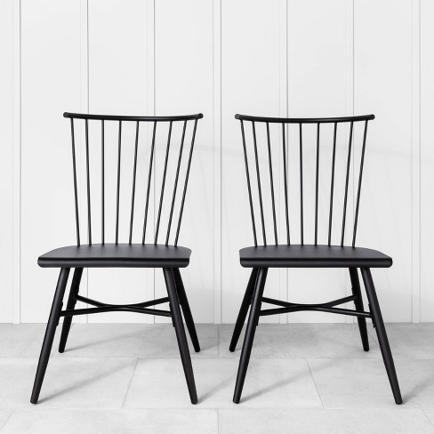 2pk Indoor Outdoor Metal Patio Dining Chair Black Hearth Hand With Magnolia Target