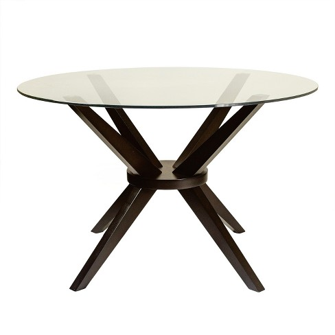 Bianca Round Dining Table With Glass Top Aeon Target