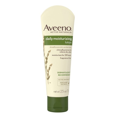 Unscented Aveeno Daily Moisturizing Lotion To Relieve Dry Skin - 2.5 fl oz - image 1 of 3