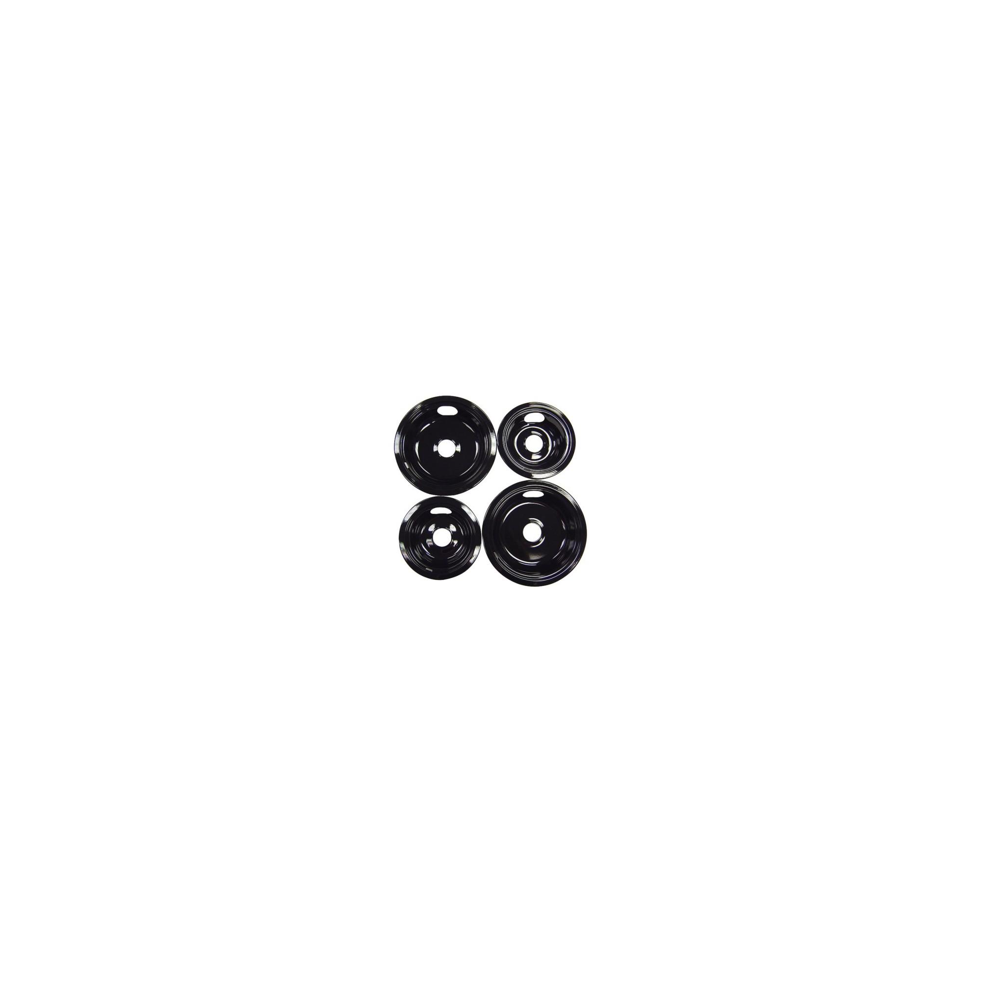 Range Kleen 4pc Porcelain Drip Pan Set Black