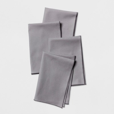 4pk Overedge Napkin Gray - Project 62™