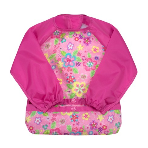 green sprouts Snap & Go Easy-wear Long Sleeve Bib - image 1 of 2