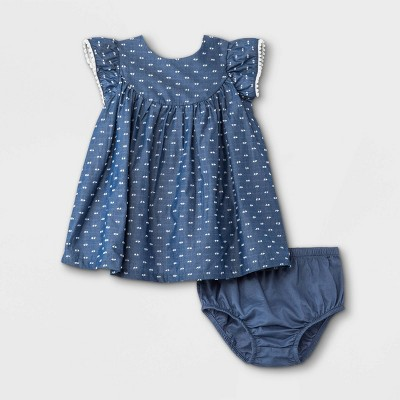 Baby Girls' Clipspot Dress - Cat & Jack™ Blue