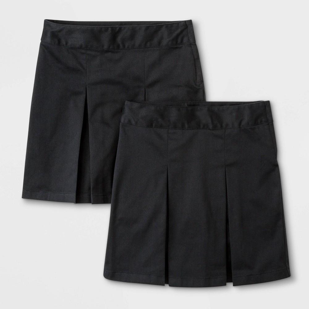 Girls 39 2pk Stretch Uniform Pleated Twill Skorts Cat 38 Jack 8482 Black 12