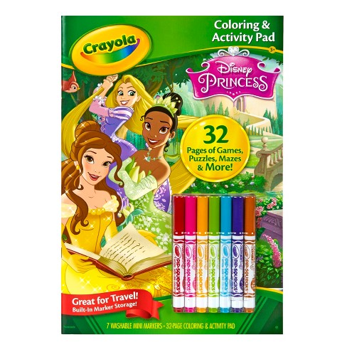 Crayola® Coloring and Activity Pad, 32pgs, 7 Mini Markers - Disney® Princess - image 1 of 5