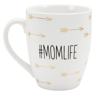 Pearhead 16oz Ceramic #Momlife Coffee Mug