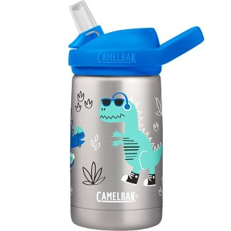 CamelBak Eddy+ 12oz Vacuum Insulated Stainless Steel Kids' Water Bottle - Doodle Dinos