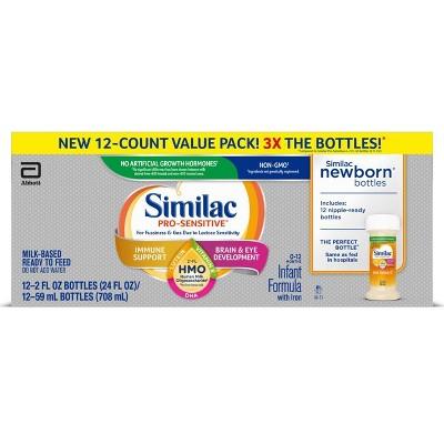 Similac Pro-Sensitive Non-GMO Infant Formula with Iron - 12ct/2 fl oz Each