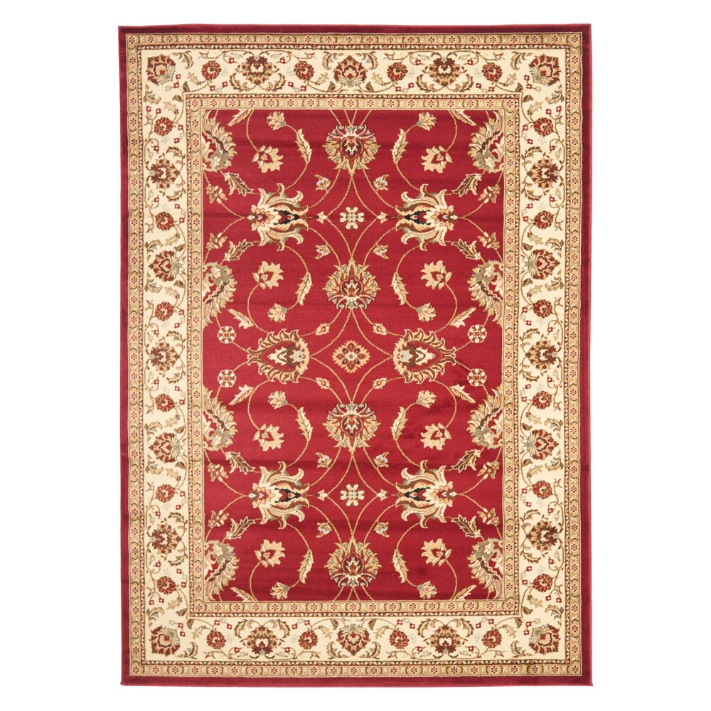 8'X11' Floral Loomed Area Rug Red/Ivory - Safavieh