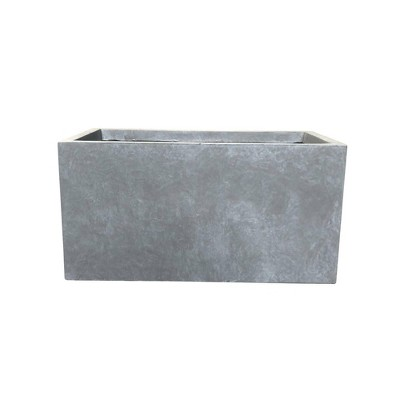 Kante Lightweight Modern Long Low Outdoor Concrete Rectangular Planter - Rosemead Home & Garden, Inc.