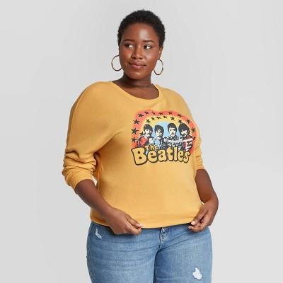 Women's The Beatles Graphic Sweatshirt - Mustard