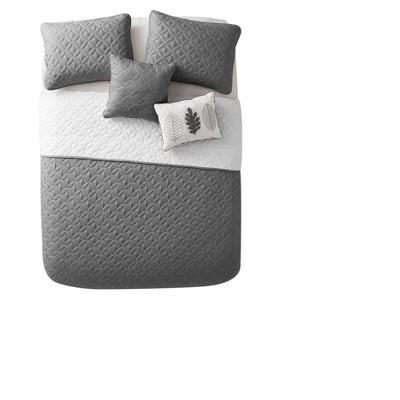 Charcoal Hayden Quilt Set (Queen)- VCNY®