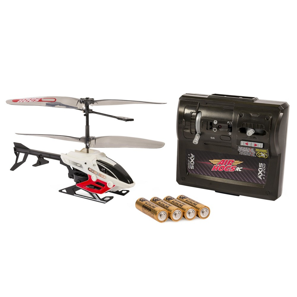 Air Hogs Axis 200 RC Helicopter with Batteries, Red, White