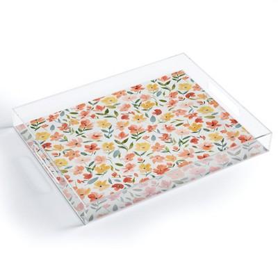 Ninola Design Countryside Fresh Flowers Acrylic Tray - Deny Designs