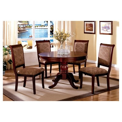 Merveilleux Sun U0026 Pine 5pc Round Pedestal Dining Table Set Wood/Antique Cherry : Target