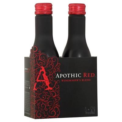 Apothic Red Blend Wine - 2pk/250ml Bottles