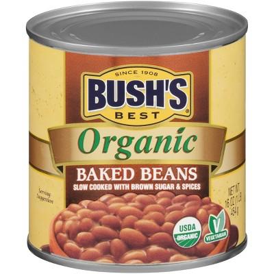 Beans: BUSH'S Organic Baked Beans