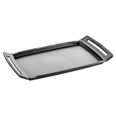 Staub Cast Iron 18.5 x 9.8-inch Plancha/Double Burner Griddle