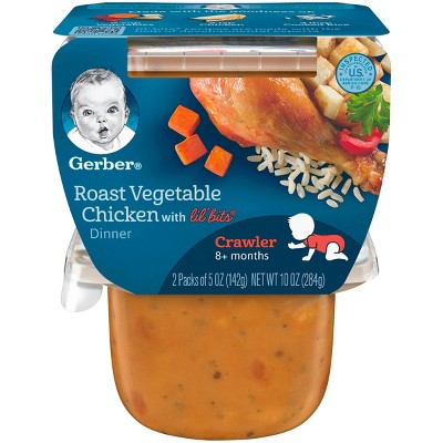 Gerber® 2pk 3rd Foods with Lil' Bits Roasted Vegetable & Chicken Dinner - 5oz