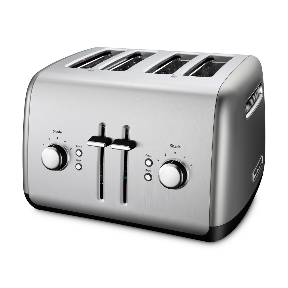 KitchenAid Refurbished 4 Slice Toaster Contour Silver – RKMT4115CU 53960836