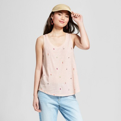 10c5af7f95 Womens Printed Sequin Loose Tank – A New Day™ Light Pink XXL ...