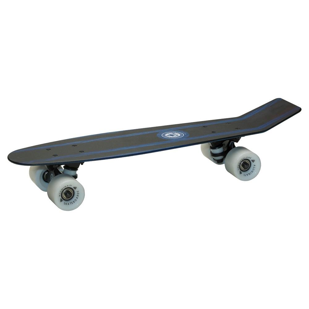 Aluminati 24 Skateboard - Blue Bomber, Multi-Colored