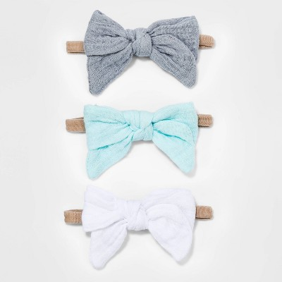 Baby Girls' 3pk Llama Love Muslin Bow Headband - Cloud Island™