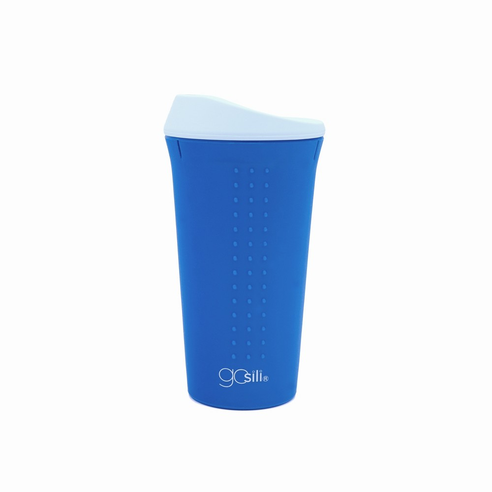 Image of GoSili 16oz Coffee Travel Mug Teal (Blue)