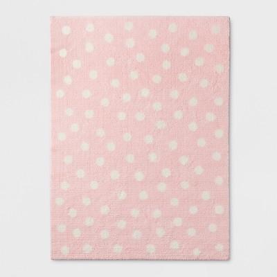4'x5'10  Dot Rug Pink - Pillowfort™