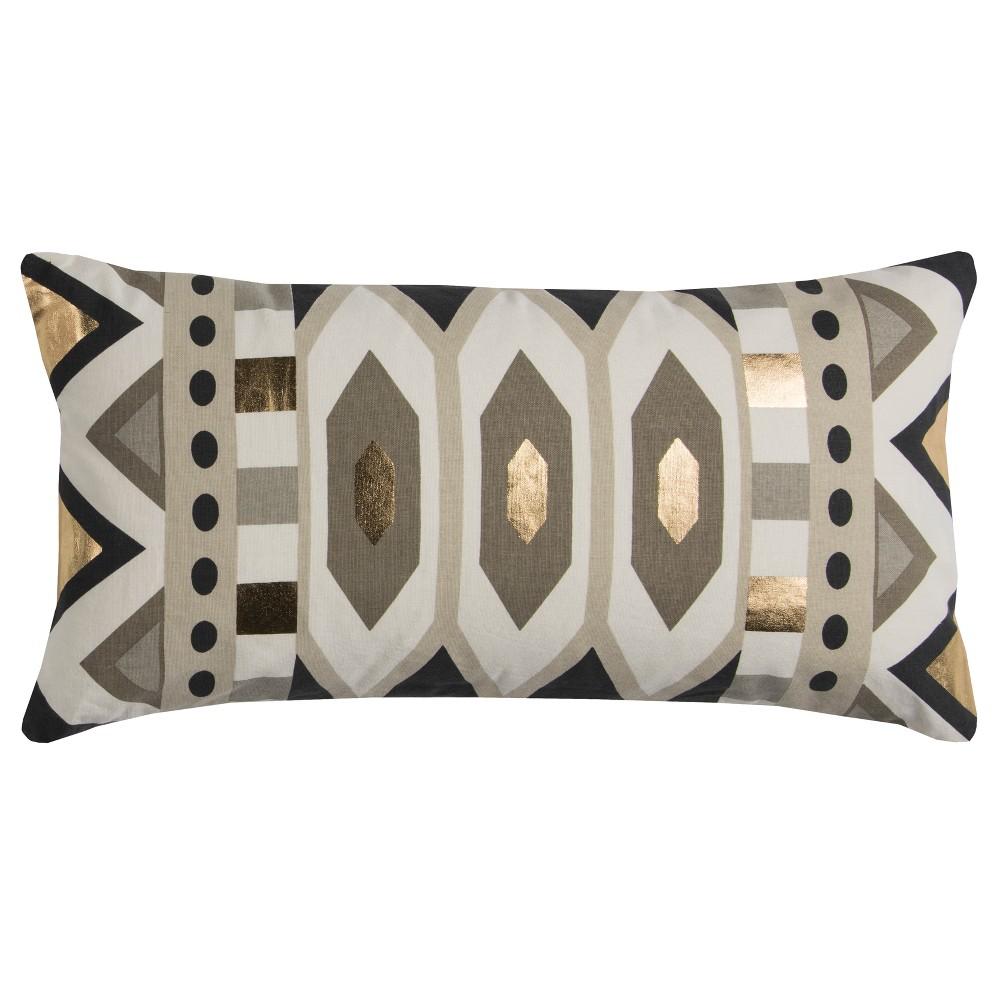 Image of Rachel Kate Geometric Throw Pillow Gray