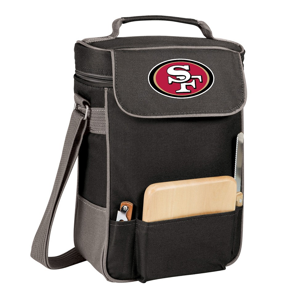 San Francisco 49ers - Duet Wine and Cheese Tote by Picnic Time (Black)
