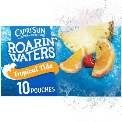 Capri Sun Roarin' Waters Tropical Fruit Juice Drinks - 10pk/6 fl oz Pouches