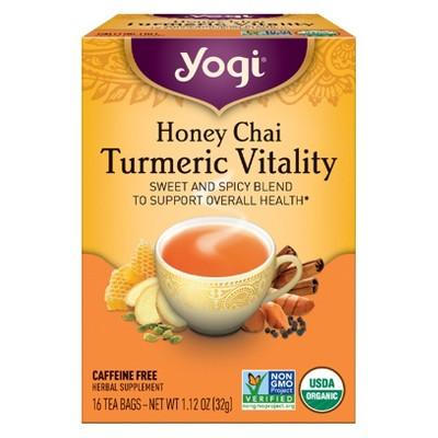Yogi Honey Chai Turmeric Vitality Tea - 16ct